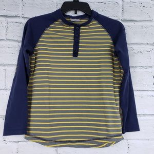 Hanna Andersson boys striped long sleeve shirt